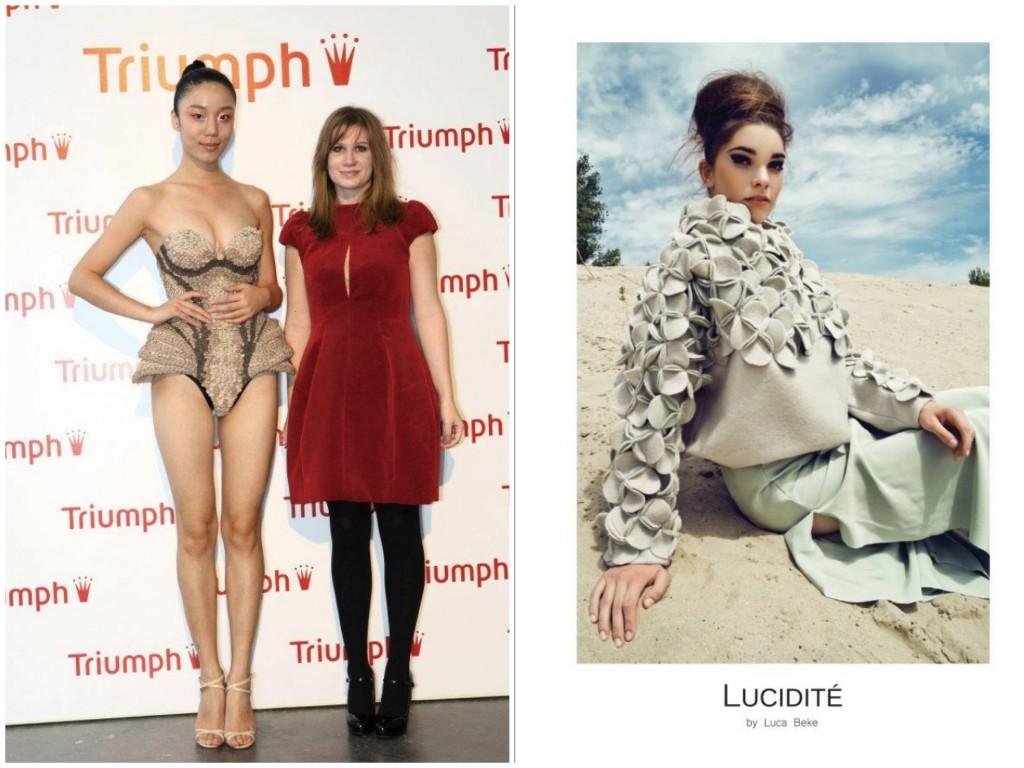 Luca Shanghaiban a 3. helyezett elért fehérneműje és márkájának első kampányképe